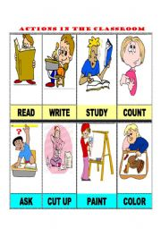English Worksheets: ACTIONS IN THE CLASSROOM