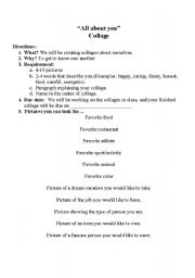 English Worksheets: Collage