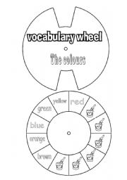 English Worksheet: vocabulary wheel