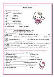 English Worksheet: Present Perfect Simple or Present Perfect Progressive? - Exercises 1