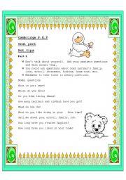 English Worksheets: Cambridge PET Oral part hot tips