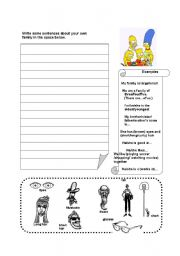 English Worksheets: Writing about family