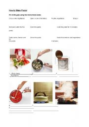 English Worksheet: Cooking Verbs Workskeet (imperatives and instructions)