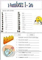 Numbers 1-20 - worksheet by Jeff&Jane