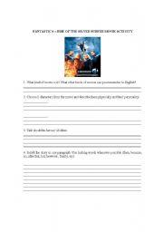English Worksheets: Fantastic 4 Movie Activity -- Characteristics