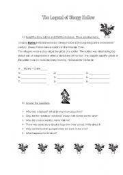 English teaching worksheets: Sleepy Hollow