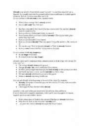 English Worksheets: Use of already