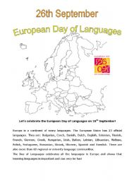 English Worksheets: Let�s celebrate the European Day of Languages!