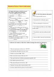English worksheets: Passive Voice / causative have