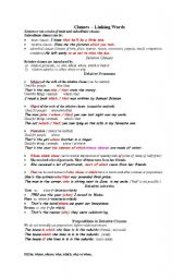 clauses and linking verbs