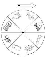 English Worksheets: transport spinner
