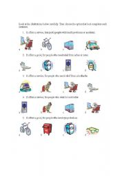 English Worksheets: GOODS & SERVICES