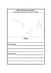 English Worksheets: Finish the Picture and Write