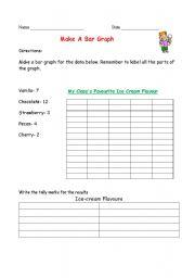 English Worksheets: Make a Bar Graph
