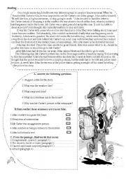 English Worksheet: murder