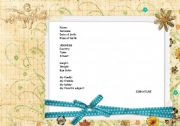 English Worksheets: Visit card