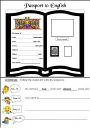 English Worksheets: Greetings; Classroom introductions