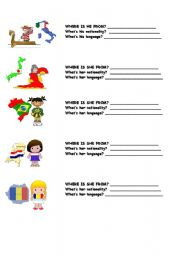 English Worksheet: COUNTRIES, NATIONALITIES AND LANGUAGES 4/4