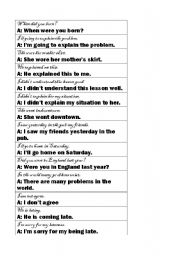 English Worksheet: Correcting mistakes