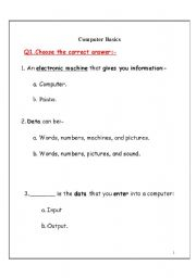 Printables Basic Computer Skills Worksheets english teaching worksheets computers computer basics
