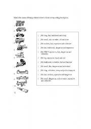 English Worksheets: Means of transportation