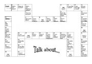 English Worksheets: Let�s talk about!