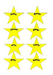 English Worksheets: stars for the European Day of Languages