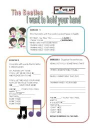 English Worksheets: I want to hold your hand (Beatles )