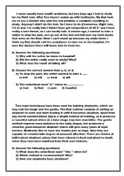 English Worksheets: coprehension passages with exercises