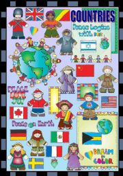 English Worksheet: COUNTRIES AND NATIONALITIES (2 PAGES)
