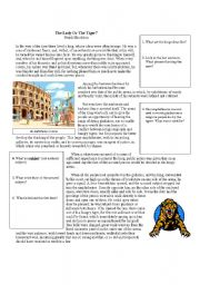 English Worksheets: Lady or the Tiger