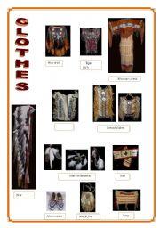 Indians  3/5  Clothes , Dances, Shelters (2 pages)