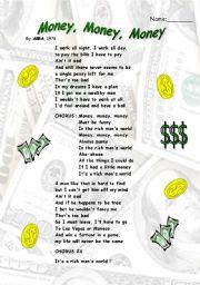 English Worksheet: Abba song �Money, money, money�