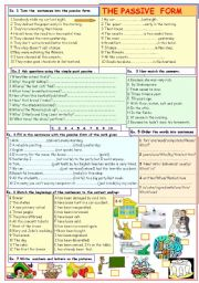 English Worksheets: The passive form
