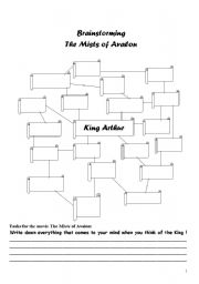 english worksheets brainstorming and tasks for the mists of avalon. Black Bedroom Furniture Sets. Home Design Ideas