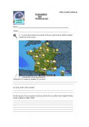 English Worksheet: Weather Report Worksheet