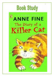 English Worksheets: Diary of a Killer Cat Book Study