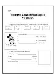 English Worksheet: mickey mouse presentation