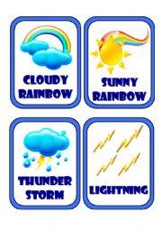 English Worksheet: Set of 4 Weather Flashcards