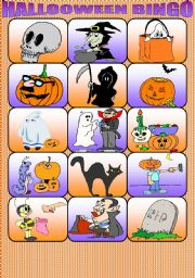 HALLOWEEN BINGO. PART 1