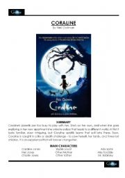 English Worksheets: Coraline Movie Study Guide