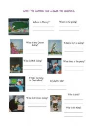 English Worksheet: Muzzy Comes back episode 1
