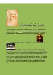 English Worksheet: Leonardo da Vinci