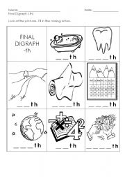 Worksheets Th Digraph Worksheets digraph th worksheets
