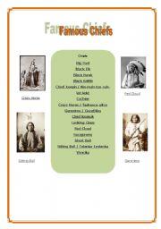 Indians  5/6 - Famous chiefs