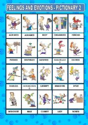 English Worksheet: FEELINGS AND EMOTIONS - PICTIONARY 2