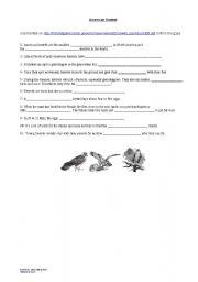English Worksheets: Kestrels