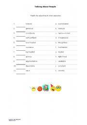 English worksheet: Talking About People