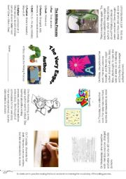 English Worksheets: Editable The Very Eager Author Minibook 3 pages - Sample then Boys and Girls worksheets too!