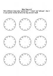 time o clock half past quarter past esl worksheet by miss euge. Black Bedroom Furniture Sets. Home Design Ideas